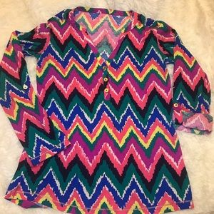 Lilly Pulitzer multicolor cotton top